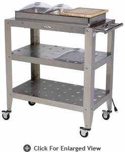 BroilKing®  Family Size 3 Pan Buffet Cart w/ Clear Individual Lids