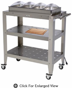 BroilKing�  Family Size 4 Pan Buffet Cart w/ Clear Individual Lids
