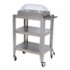 BroilKing�   Mobile Double Buffet Warming Cart  With Rolltop Lid
