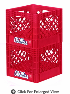 Campus Crates  University of Mississippi  Set of 2 - Red