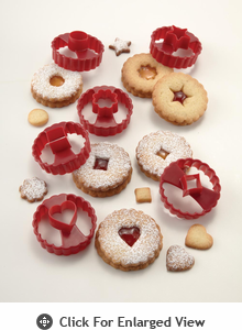 Chicago Metallic Baking Essentials Linzer Cookie Cutter Set