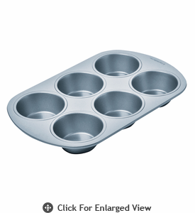 Chicago Metallic Betterbake™ Non-Stick 6 Cup Muffin Pan