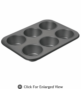 Chicago Metallic™ Non-Stick 6 Cup Giant Muffin Pan