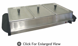 CucinaPro� Buffet Server-Warming Tray with Stainless Steel Lids