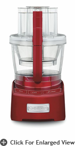 Cuisinart Elite Collection 12-Cup Food Processor  Metallic Red