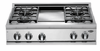 "DCS 36"" 4 Burner & Griddle LP Gas Cooktop"
