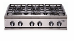 "DCS  36"" 4 Burner & Grill  Cooktop"