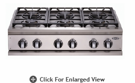 "DCS 36"" 4 Burner & Grill  Natural Gas Cooktop"