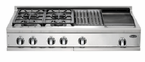"DCS  48"" 4 Burner, Griddle & Grill  Cooktop"