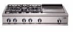 "DCS  48"" 5 Burner & Griddle  Cooktop"