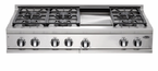 "DCS  48"" 6 Burner & Griddle  Cooktop"