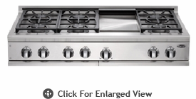 "DCS 48"" 6 Burner & Griddle LP Gas Cooktop"
