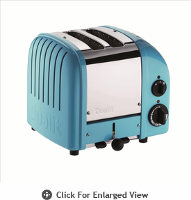 Dualit  2-Slice Classic Bread Toaster Azure Blue
