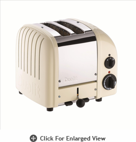 Dualit  2-Slice Classic Bread Toaster  Canvas White