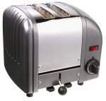 Dualit 2-Slice Classic Bread Toaster Charcoal