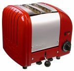 Dualit 2-Slice Classic Bread Toaster Red