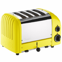Dualit  4-Slice Bread Classic Toaster Citrus Yellow