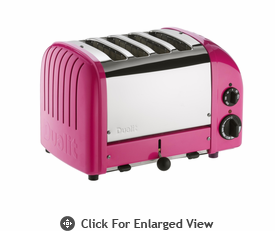 Dualit  4-Slice Classic Bread Toaster  Chilly Pink