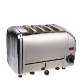 Dualit 4-Slice Classic Bread Toaster Chrome