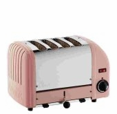 Dualit 4-Slice Classic Bread Toaster Petal Pink