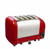 Dualit 4-Slice Classic Bread Toaster Red