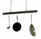 Enclume�   Offset Hook Ceiling Bar  Pot Rack  Hammered Steel