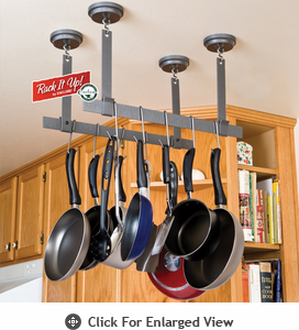 Enclume Rack it Up! Ceiling Bar Pot Rack