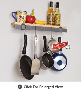 Enclume Rack it Up!  Wall Bar & Wood Shelf