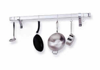 Enclume®   Rolled End Bar  Pot Rack  Chrome