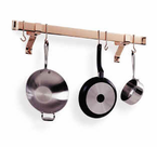 Enclume®  Rolled End Bar  Pot Rack  Copper Plated