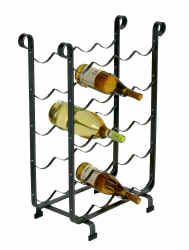 Enclume® Wine Storage Rack 20 Bottle Hammered Steel