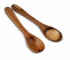 Enrico Natural Acacia Wood  Serving Bowl and Servers