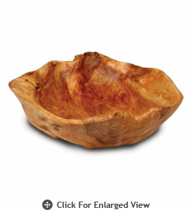 Enrico Products Root Wood Extra Large Flat Cut Bowl