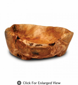 Enrico Products Root Wood Medium Flat Cut Bowl
