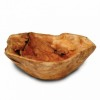 Enrico Root Wood Extra Large Bowl with Root Servers