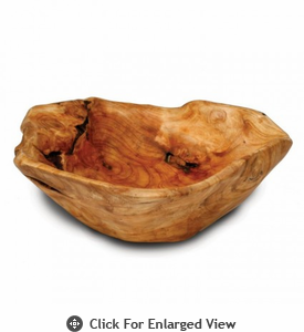 Enrico Root Wood Large Flat Cut Bowl