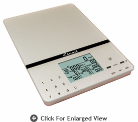 Escali Digital Scales Cesto Silver Gray