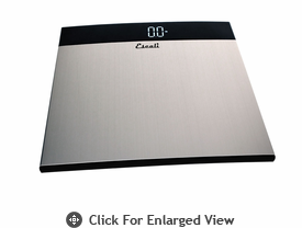 Escali Extra Large Stainless Steel Bathroom Scale 440lb.