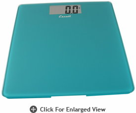 Escali  Glass Performance Bathroom Scale 440lb Peacock Blue