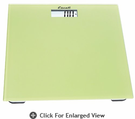 Escali  Glass Performance Bathroom Scale 440lb Sage Green