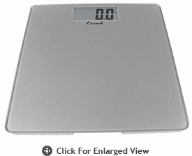 Escali  Glass Performance Bathroom Scale 440lb Silver
