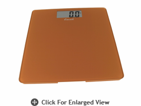 Escali Glass Platform Bathroom Scale 440lb. Cinnamon