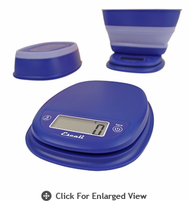 Escali Pop Digital Scale 11 lb. Frost Blue