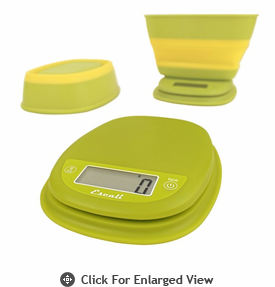 Escali Pop Digital Scale 11 lb. Garden Yellow