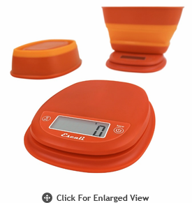 Escali Pop Digital Scale 11 lb. Vintage Orange