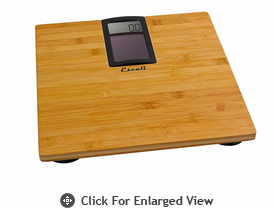 Escali Solar Bamboo Bathroom Scale 440lb.