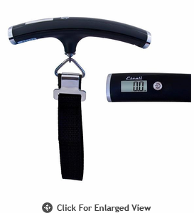 Escali Velo Luggage / Travel Scale 110lb. Black