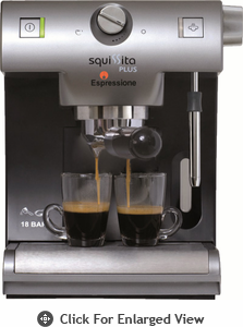 Espressione  Squissita Plus 18-Bar  Espresso / Cappuccino Machine Out of Stock Until April 2014