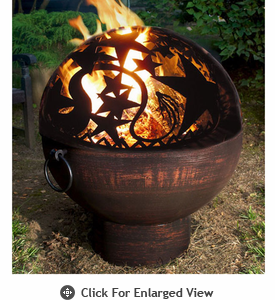 Good Directions Orion  Fire Bowl with Fire Dome Celestial Scene