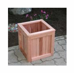 "Greener Garden Recycled Redwood Planter Box  12""x 12""x 12"""